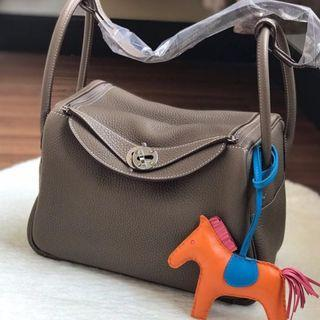 Brand New Hermes Lindy 26 Etoupe Clemence