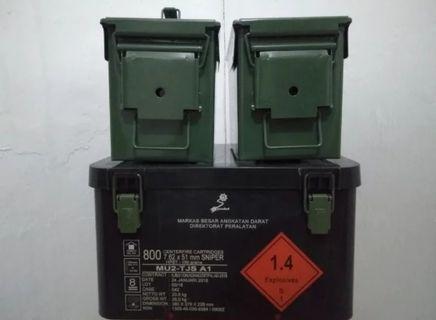 PAKET Kotak BEKAS Peluru Serba Guna Bahan Plastik ABS + bahan Plat besi