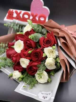 🚚 Red Rose bouquet (WITH FREE DELIVERY)