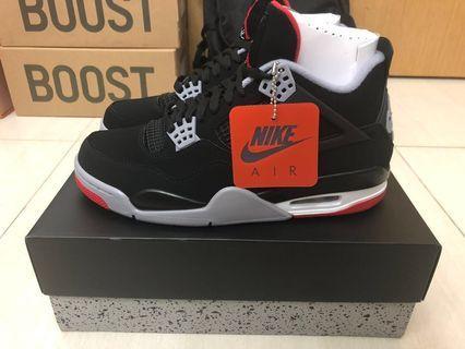d51fe0b14e06fa Air Jordan 4 Bred 2019 Retro US9.5