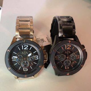 ARMANI EXCHANGE AX1513 AX 亞曼尼 手錶 48mm 鍍黑 大錶面 男錶女錶  金黑