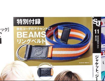 Beams 腰帶 Belt , 不包括雜誌