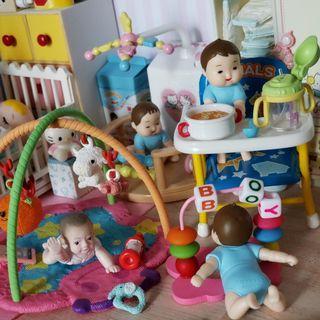 合Re-ment 食玩 bb 嬰兒房場景 迷你益智玩具 手工作品