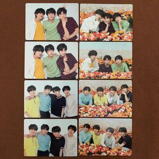 bts unit/group love yourself in japan mini photocard set