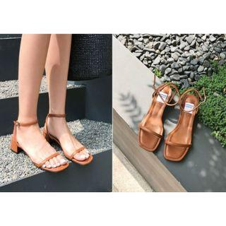 🚚 Square Toe Heel Sandals