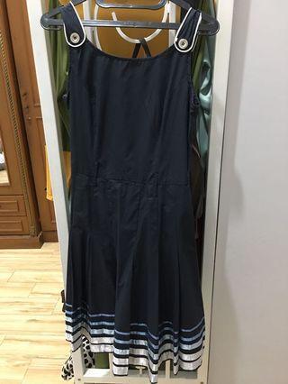 Dress Wanita Navy Stripes