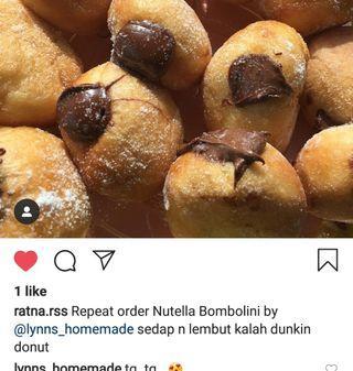 donut bombolini nutella