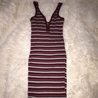 Bodycon singlet zipper dress