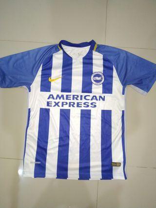 Jersey bola rare Brighton & Hove Albion tahun lalu size M