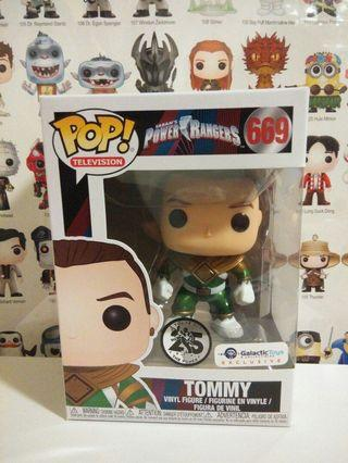 Funko Pop Tommy Unmasked Green Ranger Galactic Toys Exclusive Vinyl Figure Collectible Toy Gift Movie Mighty Morphin Power Ranger MMPR #mrtpunggol
