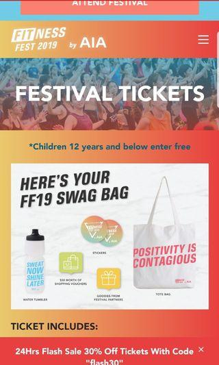 AIA Fitness Fest Ticket