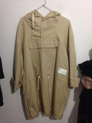 Rsch canvas parka camel brown