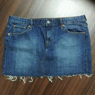 Denim Mini Skirt with Raw Hem Plus Size US14 UK16 UK18 XL XXL