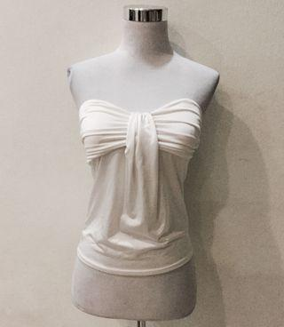 🚚 White overlay bustier top