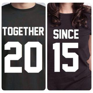 Together Since Customize Couple Top