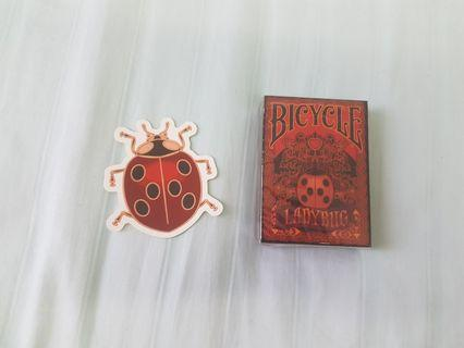 Limited edition Bicycle Ladybug Playing cards (red)