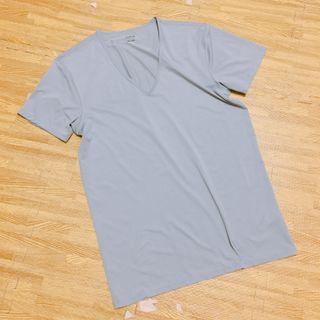 🚚 免運⏰UQ全新AIRism系列V領灰#半價衣服拍賣會