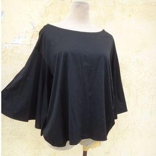 正品 iROO 黑色 七分蝴蝶袖 棉上衣 Size: 38