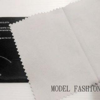 《17.5X12.5CM》 英國製銀飾專用 拭亮布 拭銀布 擦銀布擦拭布 飾品清潔保養清潔布