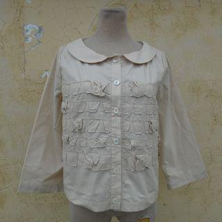 正品 TAN & LUCIANA 久晴 米色 七分袖短版襯衫 Size: 9