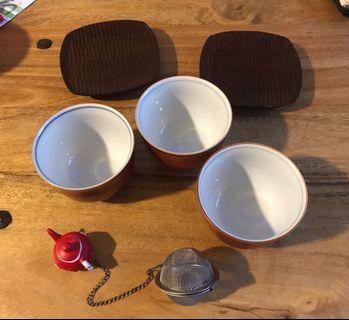 Tea cups/coasters