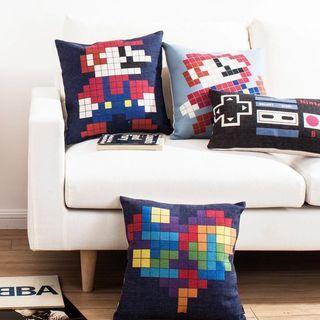Throw Pillow Cushion Cover Super Mario Nintendo Home Decor