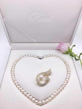 🚚 ❤Pearl Necklace & pin brooch (Mother's day sales!) #EndgameYourExcess