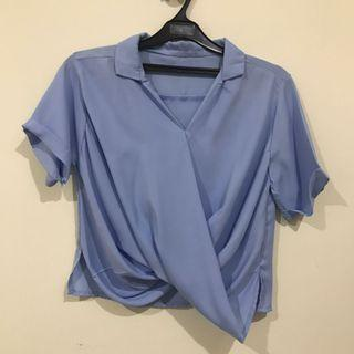 Cross blue top