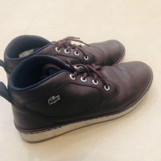 LACOSTE chukka boots in Brown Leather