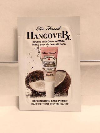 hkd7/約1ml/包 too faced hangover replenshing primer 妝前保濕打底霜。 有1包。