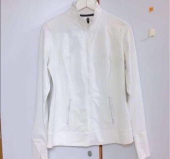 🚚 極透氣彈力純白運動外套#半價衣服拍賣會