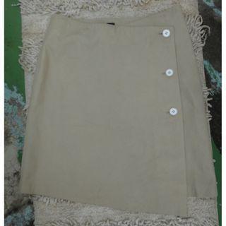 正品 INDIVI 米色 小羊皮 一片裙 size: 38