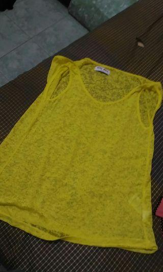 Tank Top Kuning & Abu - Fit to M