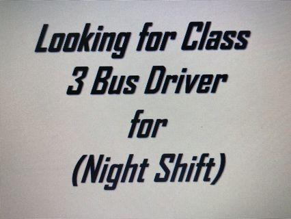 Hiring class 3 Bus Driver with Own Transport