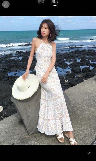 🚚 Beachy Lace Maxi Dress