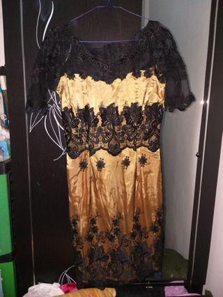 Dress kebaya black gold