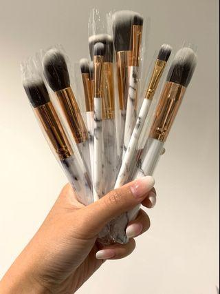 10 pcs of Kabuki style Marble Brush Set