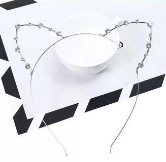 CUTE CAT RHINESTONE Headband