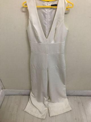 Miss Selfridge - broken white jumpsuit size 34/2/6 - XS