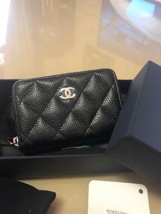 New Chanel Black Caviar zippy with SHW
