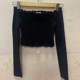 Authentic Miss selfridge black crop top