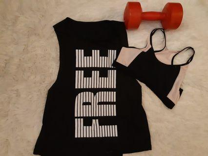 Pre loved Sports Singlet (Black)