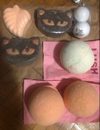Bath bombs (Lush, Bath & Body Works)