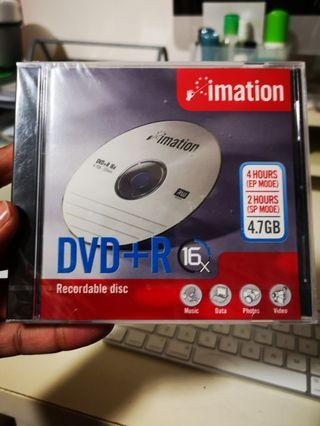 Brand new Imation DVD+R 16x Recordable Disc