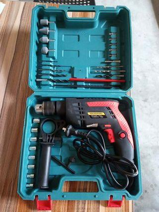 Home repair Rechargable Impact Drill with line Electric Screwdriver Drill with Bits