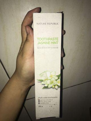 Nature republic toothpaste jasmine mint