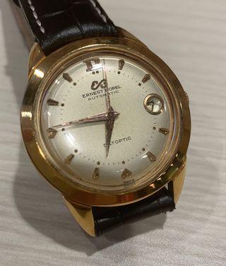🚚 Rare Ernest Borel Automatic Datoptic Watch
