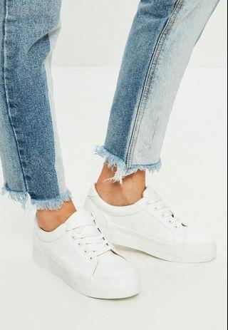 Missguided white sneakers