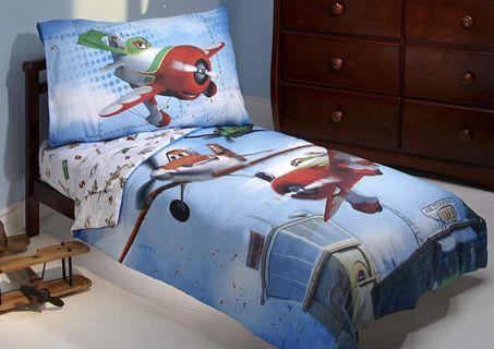 Disney Planes 飛機總動員 兒童床品4件套裝 床單 兒童被 枕套