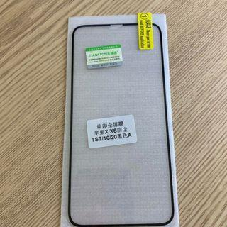 iphone x xs tempered screen protector 玻璃貼 9h硬度 $30 for 2